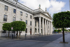 Ireland. Dublin. The historic building of the General Post Office (GPO), in OConnell Street Royalty Free Stock Images