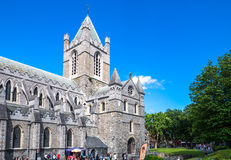 Ireland. Dublin,  Ireland - July 30, 2013:  The Christchurch cathedral Royalty Free Stock Photography