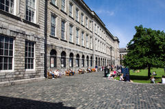 Ireland. Dublin. Trinity College. Fellow Square and the historical building named Old Library, inside which is the spectacular Long Room royalty free stock image