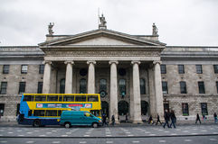 Ireland. Dublin. View of Daniel OConnell Street. The historical building of the GPO, General Post Office Stock Image