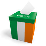 Ireland election ballot box for collecting votes. Rendered in 3D on a white background Royalty Free Stock Photos
