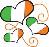Ireland Flag Hearts Stock Images