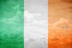 Ireland flag illustration. Ireland flag vintage sky illustration stock photo