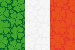 Ireland flag leaf clover Royalty Free Stock Image