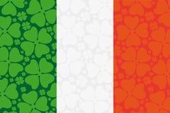 Ireland flag leaf clover Royalty Free Stock Image