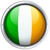 Ireland flag on round badge Royalty Free Stock Photography