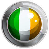 Ireland flag on round badge Stock Photos