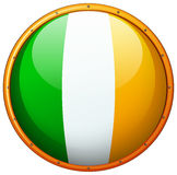 Ireland flag on round button Stock Photography