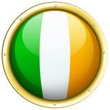 Ireland flag on round icon Stock Image