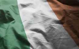 Ireland Flag Rumpled Close Up.  royalty free stock photos