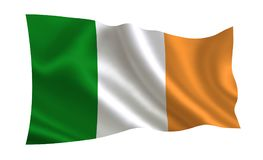 Ireland flag. A series  of `Flags of the world.`  The country - Ireland. Ireland flag. A series of `Flags of the world.`  The country - Ireland Stock Photography