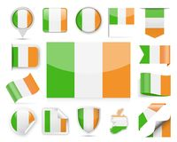 Ireland Flag Vector Set Stock Images