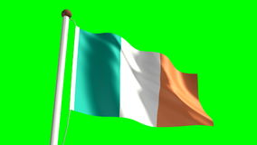 Ireland flag stock footage