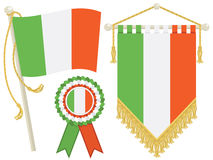 Ireland flags Royalty Free Stock Photography