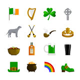 Ireland Flat Color Icons Stock Photo