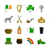 Ireland Flat Color Icons Stock Photo