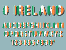 Ireland font alphabet and numeral Royalty Free Stock Photo