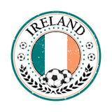 Ireland football label / sticker Stock Photo