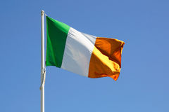 Ireland full flag. On a clear blue sky royalty free stock images