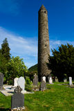 Ireland Glendalough Tower Stock Image
