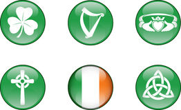Ireland Glossy Icon Set Royalty Free Stock Photo