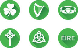 Ireland Glossy Icon Set Stock Photography
