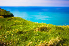 Ireland Grass and Ocean Royalty Free Stock Image