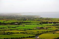 Ireland, the green island. Meadows on Dingle Peninsula near the ocean Stock Images