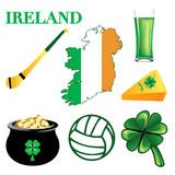 Ireland Icons 2. Vector Illustration for Ireland. Irish Button Icons Royalty Free Stock Photography