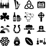 Ireland icons Royalty Free Stock Photos