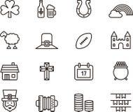 Ireland icons Royalty Free Stock Images