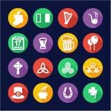 Ireland Icons Flat Design Circle Royalty Free Stock Photos