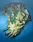 Ireland island 1. 3D visualisation of Eire 3D model Royalty Free Stock Photos