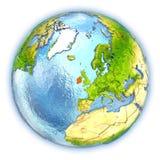 Ireland on isolated globe Stock Photos