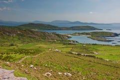 ireland krajobrazowego seacape wibrujący zachód obraz royalty free