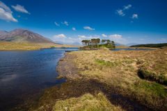Ireland landscape. Irish lake, Derryclare Lough, Connemara, Ireland Royalty Free Stock Image