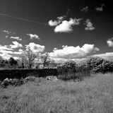 Ireland. Landscape in Northern Ireland in black & white. Scenery of Games of Thrones Royalty Free Stock Images