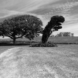 Ireland. Landscape in Northern Ireland in black & white. Scenery of Games of Thrones Stock Photo
