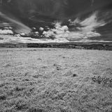 Ireland. Landscape in Northern Ireland in black & white. Scenery of Games of Thrones Stock Images