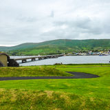 Ireland. Landscapes. The bridge to Valentia Island in the southeastern of Eire Stock Images