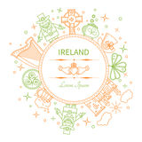 Ireland - linear form of the circle icon Royalty Free Stock Photography