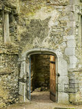 Ireland. Mallow - Mala. Ruins of the Old Mallow Castle. Detail with a portal Stock Images
