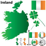 Ireland map Stock Images