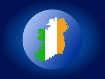 Ireland map flag sphere Stock Image