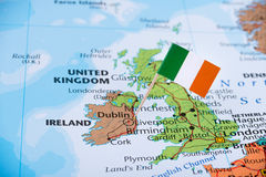 Ireland map, travel, emigration concept image stock photo