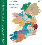 ireland mapa Obrazy Royalty Free