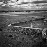 Ireland. Northern Ireland in black & white. Scenery of Games of Thrones Royalty Free Stock Photography