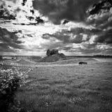 Ireland. Northern Ireland in black & white. Scenery of Games of Thrones Stock Photos