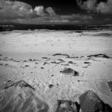 Ireland. Northern Ireland in black & white. Scenery of Games of Thrones Royalty Free Stock Photos