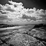 Ireland. Northern Ireland in black & white. Scenery of Games of Thrones Stock Images